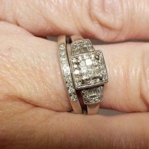 Kay Jewelers Genuine 1 Carat Diamond Wedding Set